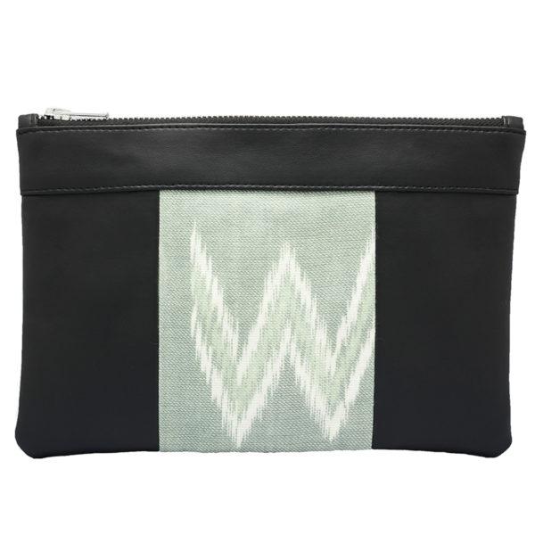 Le sac qui fait pochette, 100% vegan en Noir et Gris Rizière, fabriqué en France pour l'empowerment des femmes.