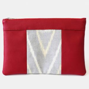 Le sac qui fait pochette, 100% vegan en Doré et Gris Rizière, fabriqué en France pour l'empowerment des femmes.