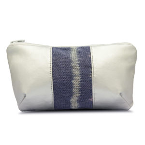 Diana Pouch Silver & Flower Blue