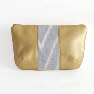 Diana Pouch Gold & Mountain Gray