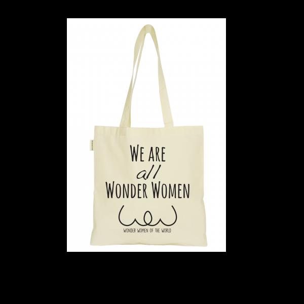Le totebag qui booste les femmes et affirme que nous sommes toutes des Wonder Women, en coton bio certifié GOTS.