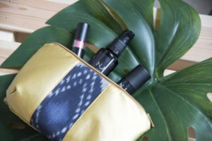 Veggie Love loved the Diana Pouch in Gold and Psyched Marine at the ethical fashion show in Berlin