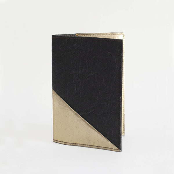 Piñatex Passport Cover Gold