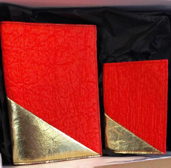 Coffret Cadeau Fête des Mères Rouge Paprika et Or